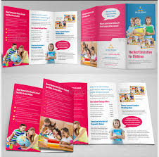 tri fold brochure template free download brosur sekolah education trifold brochure template
