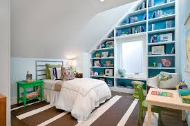sloped ceiling built ins contemporary boy u0027s room cardea