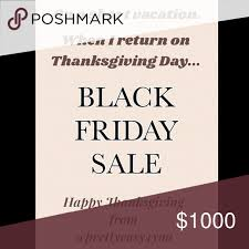 black friday sale starts thanksgiving day