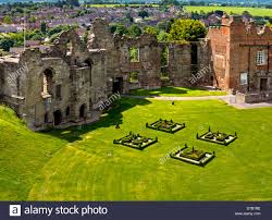 tutbury castle in staffordshire uk a part ruined grade 1