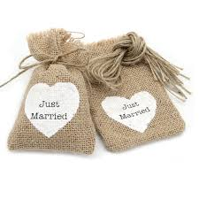 burlap gift bags aliexpress buy just married small jute bag cheap wedding