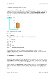 The Location Of The Water Table Is Subject To Change Soil Mechanics Note