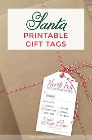 how to add christmas magic with santa gift tags u2022 259 west