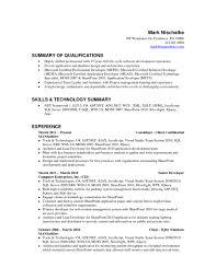 Sharepoint Developer Resume Sample by Sample Resume For Sharepoint Developer Free Resume Example And