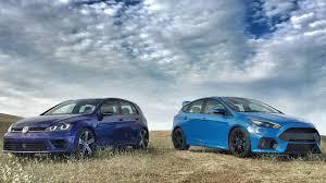 golf r volkswagen 2017 ford focus rs vs 2017 volkswagen golf r head 2 head ep 80