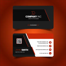 card design business card design vector free