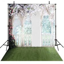 Wedding Backdrop Outlet Only 30 00 Column Windows Red Flower Leaves Fence Grass Room