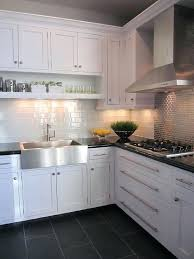 Subway Tiles Backsplash Kitchen Glass Subway Tiles Backsplash Glass Tile By Modern Kitchen Gray