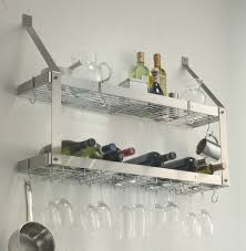 stainless steel shelves kitchen wall