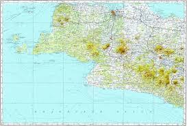 Map Of Jakarta Download Topographic Map In Area Of Jakarta Bandung Plotot