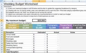 wedding budget wedding budget worksheet wedding guide