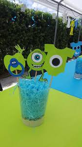 monsters inc baby shower decorations monsters inc baby shower centerpieces monsters inc