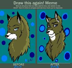 Meme Wolf - draw this again meme wolf by albo beati7 on deviantart