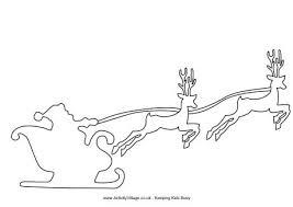 santa sleigh coloring pages santa sleigh reindeer