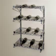 d 4 shelf chrome wire wall mounted wine shelving kit