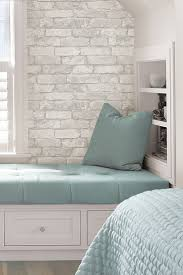 charming striped bedroomer ideas white brick wood effect for guest