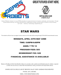 students to guide robots through star wars course menifee 24 7