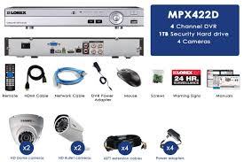 1080p hd security camera system with 4 1080p metal outdoor cameras