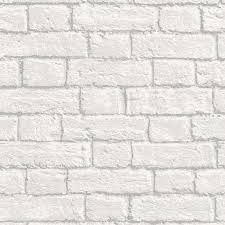 glitter brick wallpaper in white m1038