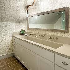 bathroom trough sink trough sink with 3 faucets design ideas