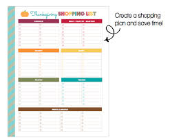clean and home freebie printable thanksgiving shopping list