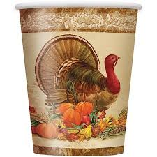 thanksgiving cups 9 oz rustic turkey thanksgiving paper cups 8ct walmart