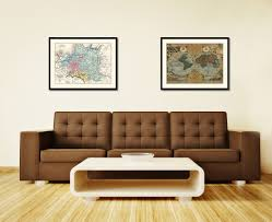 poland prussia germany vintage antique map wall art bedroom home