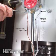 How To Turn Off Pilot Light How To Replace A Water Heater Thermocouple Family Handyman