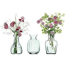 Vase Trio Lsa International Mia Mini Vase Trio H11cm Recycled Part Optic X 3