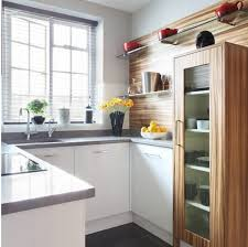 Inexpensive Kitchen Wall Decorating Ideas Small Kitchen With Red Fridge And Wall Decor Small Kitchen