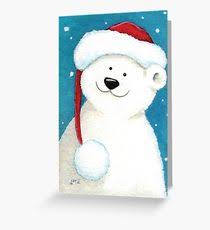 polar greeting cards redbubble