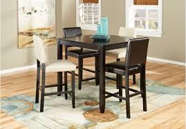 sunset view espresso 5 pc counter height dining room w brown