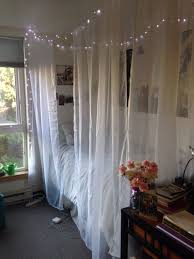 Canopy Drapes Diy Room Canopy Bed 4 Sheer Curtains 3 Command Ceiling Hooks