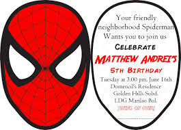 Spiderman Invitation Cards Best First Birthday Invitations Futureclim Info