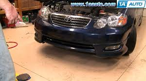 how to install replace front bumper cover toyota corolla 03 08