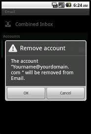android remove account how to delete email accounts of an android phone solvelogger