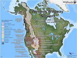 Future Map Of North America by Western Wildway Wildlands Network