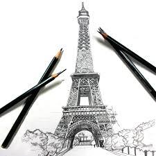 drawn eiffel tower pinterest pencil and in color drawn eiffel