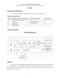 control system engineering lab manual 2 docsity