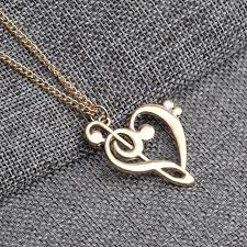shaped pendant necklace images Heart shaped musical note pendant necklace bluegorillainc jpg