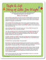 printable right u0026 left little joe wright funsational com