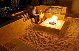 Backyard Beach Themed Fire Pit Home Design Ideas - Backyard beach design