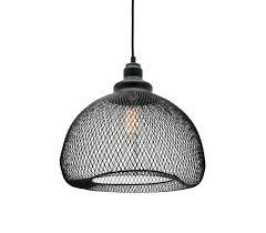 dustin medium 1 light ceiling pendant black wire mesh mercator