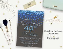 40th birthday printable and editable invitation u2013 orderecigsjuice info