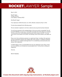 Business Letter Memorandum Example Termination Letter For Employee Template With Sample