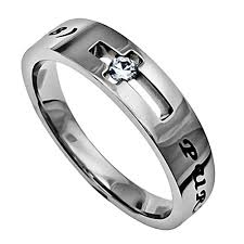 bible verse rings purity ring for stainless steel jesus faith quote on