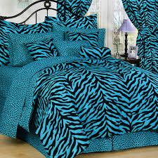 Zebra Print Duvet Cover Blue And Black Twin Xl Zebra Print Bed In A Bag Free Shipping