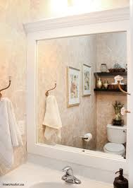 white framed mirrors for bathrooms how to frame a bathroom mirror how to nest for less