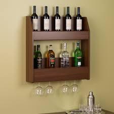 cherry 2 tier floating wine and liquor rack