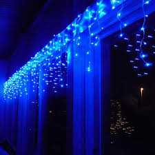 blue icicle lights lightshow 10 light shooting effect icy